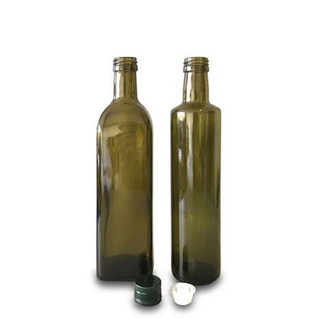 Antique green glass red wine bottle mockup 52005 tif. 500ml Antique green olive oil bottle, olive oil bottles ...
