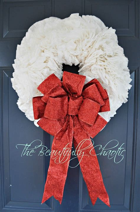 I had this wreath sitting in my decor closet, with no real plans to bring it back out this year. Beautifully Chaotic: Coffee Filter Wreath | Coffee filter wreath, Wreaths, Christmas crafts