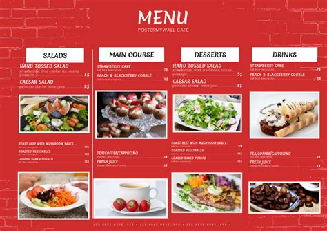 design restaurant menus   templates postermywall