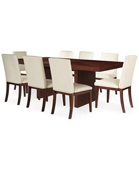 Macys Dining Room Table And Chairs by Bari White 9 Pc Dining Set Table 8 Chairs Furniture