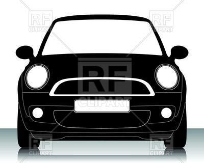 small car silhouette front view vector of transportation 169 myvector 16431 rfclipart