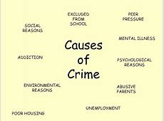 Causes of crime Essay Academic Writing Service