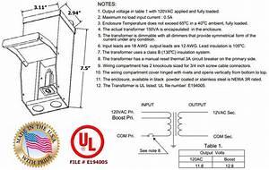 150 Watt 120v To 12v Or 24v Standard Outdoor Magnetic