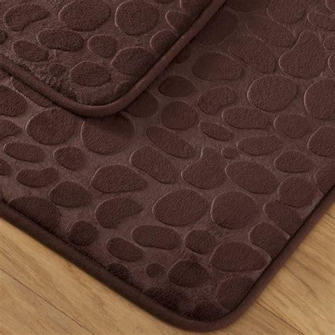 tapis de bain galet tapis bain galet marron tradition des vosges