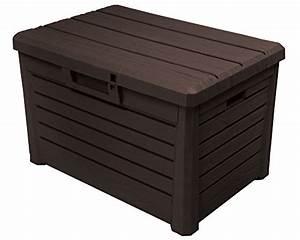 Auflagenbox Holz Wasserdicht : kissenbox florida holz optik sitztruhe auflagenbox poolbox braun 120 liter xl mit gasdruckfedern ~ Whattoseeinmadrid.com Haus und Dekorationen