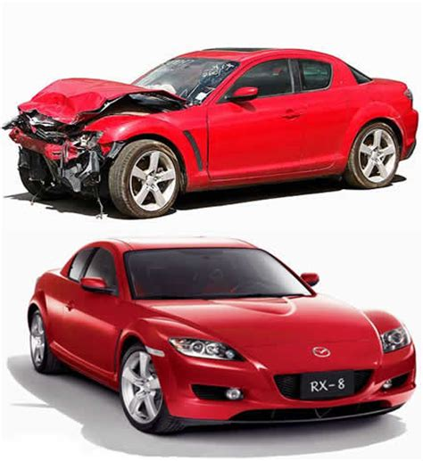 wrecked car before and after buy salvage vehicles car instructions