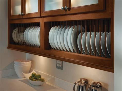 Stand Alone Cupboards, Kitchen Cabinet Plate Rack Roll Out