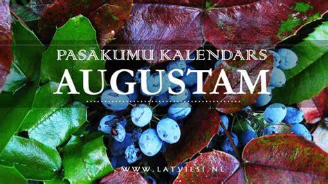 Pasākumu kalendārs augustam - Latvieši NL