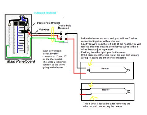 120v baseboard heater thermostat wiring diagram cadet