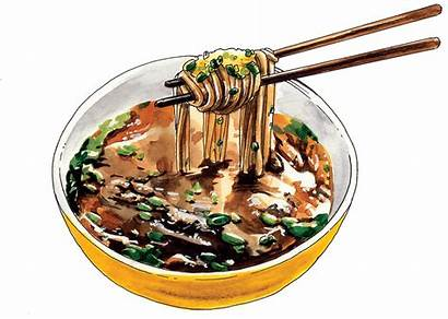Japanese Illustration Transparent Watercolor Behance Illustrations Noodles