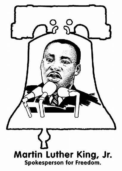 Freedom Coloring Luther Martin King Jr Crayola