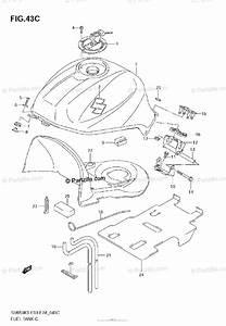 Suzuki Motorcycle 2007 Oem Parts Diagram For Fuel Tank