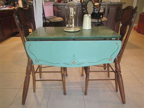 vintage enamel porcelain top table   pressback