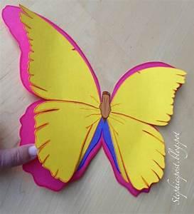 Schmetterlinge Basteln Zum Aufhängen : basteln mit tonpapier vorlagen joy studio design gallery ~ Watch28wear.com Haus und Dekorationen