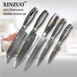 which kitchen knives 5 pcs kitchen knives set 73 layers japanese vg10 damascus steel kitchen knife set cleaver chef