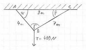 Seilkräfte Berechnen Mechanik : zugkr fte bei seilaufh ngung kr ftezerlegung ~ Themetempest.com Abrechnung