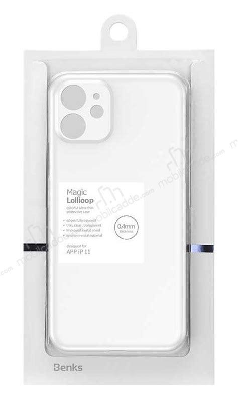 Benks Lollipop iPhone 11 Pro Max Ultra İnce Şeffaf Beyaz