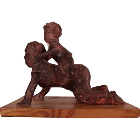 Charming Vintage Clay Sculpture by blind Chester County ...