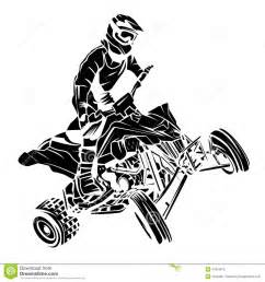 ATV Racing Silhouette Clip Art