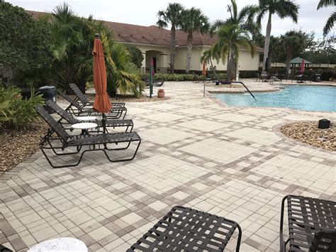 pga village island club hoa pool deck paver sealing port