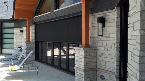 motorized retractable screens  patios porches