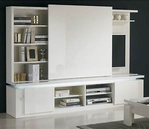 Meuble Cache Tv : meuble bibliotheque tv contemporain solutions pour la ~ Premium-room.com Idées de Décoration