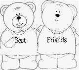 Coloring Friends Pages Friend Friendship Forever Bff Printable Bffs Heart Bears Google Sheets Clip Bestfriends Popular Colouring Adult Adults Lego sketch template