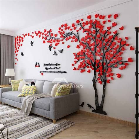 wall decals  home treeletter acrylic decorative