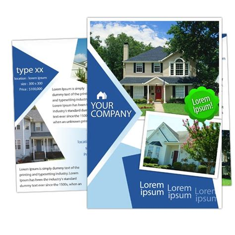 House Brochure Template by Brochure House Real Estate Brochure Template