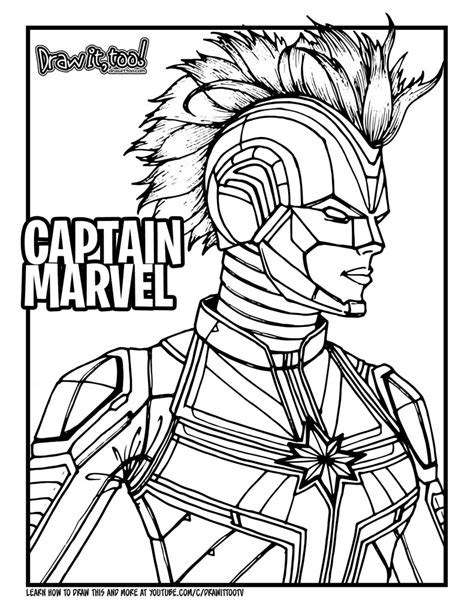 draw captain marvel   drawing tutorial