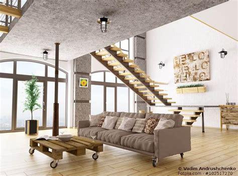wohnzimmer im laessigen industrial style  fuer puristen