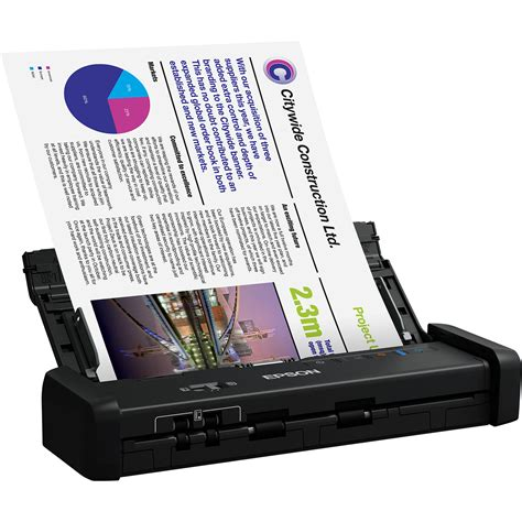 epson workforce es  portable duplex document scanner