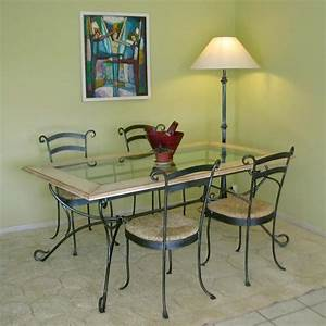 Table Fer Forg Rectangle Fanny Fabrication Franaise