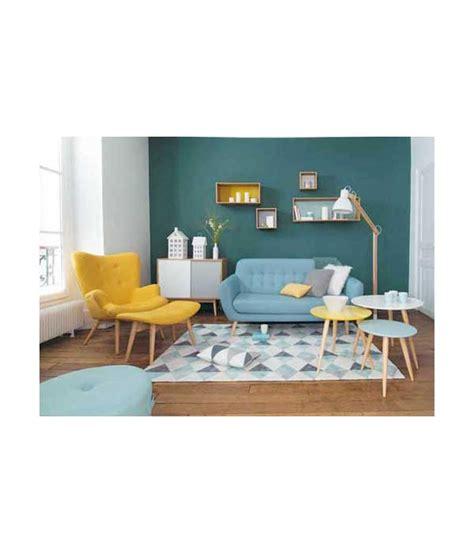 astuce deco cuisine petit fauteuil en tissu jaune vintage maison du monde
