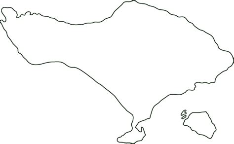 bali outline map