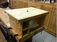 FlipTop Router Table by Don Broussard LumberJockscom