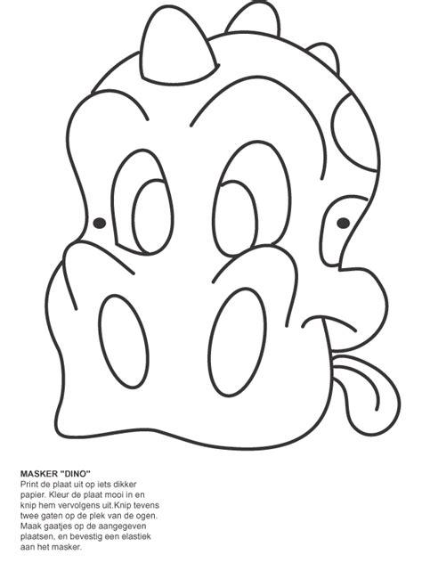 Kleurplaat Dino Masker by Kleurplaat Dinosaurus Maskers Kleurplaten Nl
