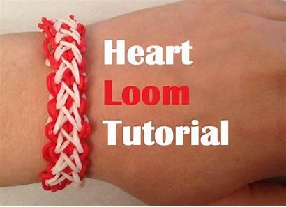 Loom Bracelet Heart Tutorial Bands Band Rainbow
