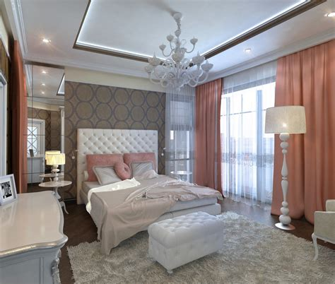 white modern curtains of bedroom design ideas 2017 2018