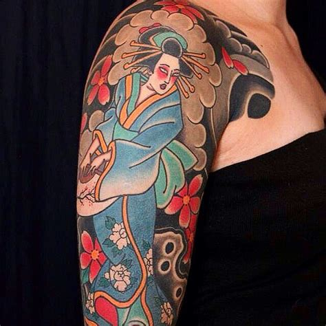 japanese geisha tattoo meaning  designs
