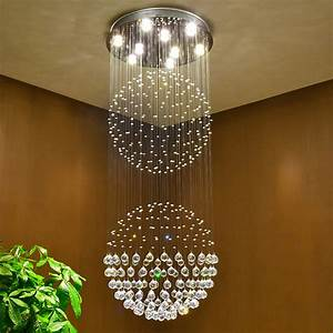 Luxury crystal chandeliers contemporary lamp gu led