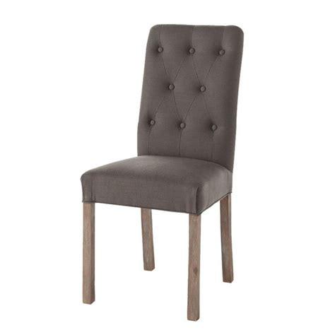 chaise capitonnee chaise capitonnée en et pacanier taupe grisé elizabeth