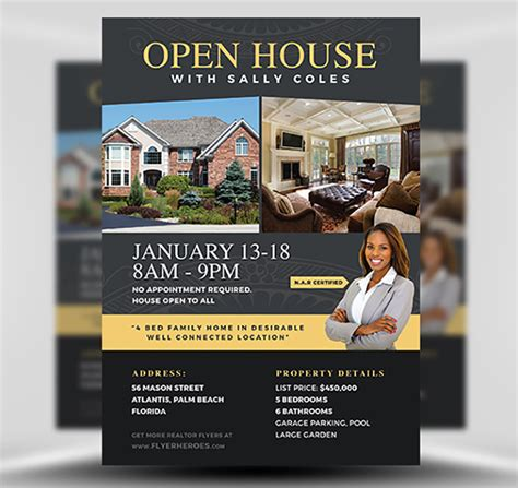 open house flyer template open house flyer template 2 flyerheroes