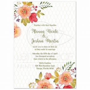 floral wedding invitation olive green and pink With wedding invitation no flowers