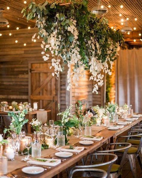 amazing hanging greenery floral wedding decorations