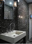 26 Black Sparkle Bathroom Tiles Ideas And Pictures Black Bathroom Black Bathroom Design Ideas Textural Contrast To The Gorgeous Bathroom Design Emc2 Interiors