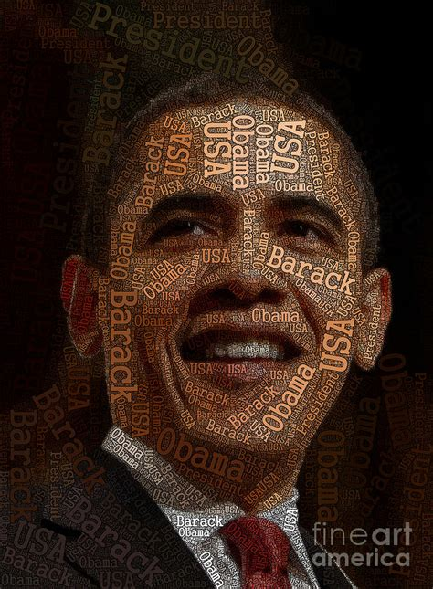 obama typography art digital art by boon mee