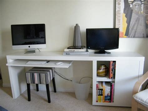 ikea malm bureau a narrow diy desk with slim storage ikea hackers