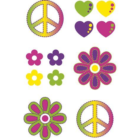 Accessoires 70er Jahren by 70er Jahre Tattoos Zum Kleben Flower Power