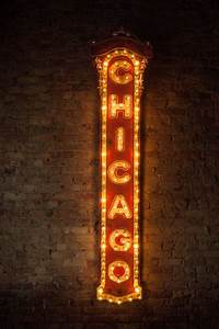 chicago theater replica light up sign one by With marquee letters houston